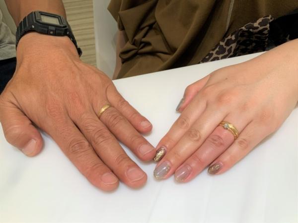 兵庫県明石市 gardenオリジナルの婚約指輪とneu spurの結婚指輪をご成約頂きました